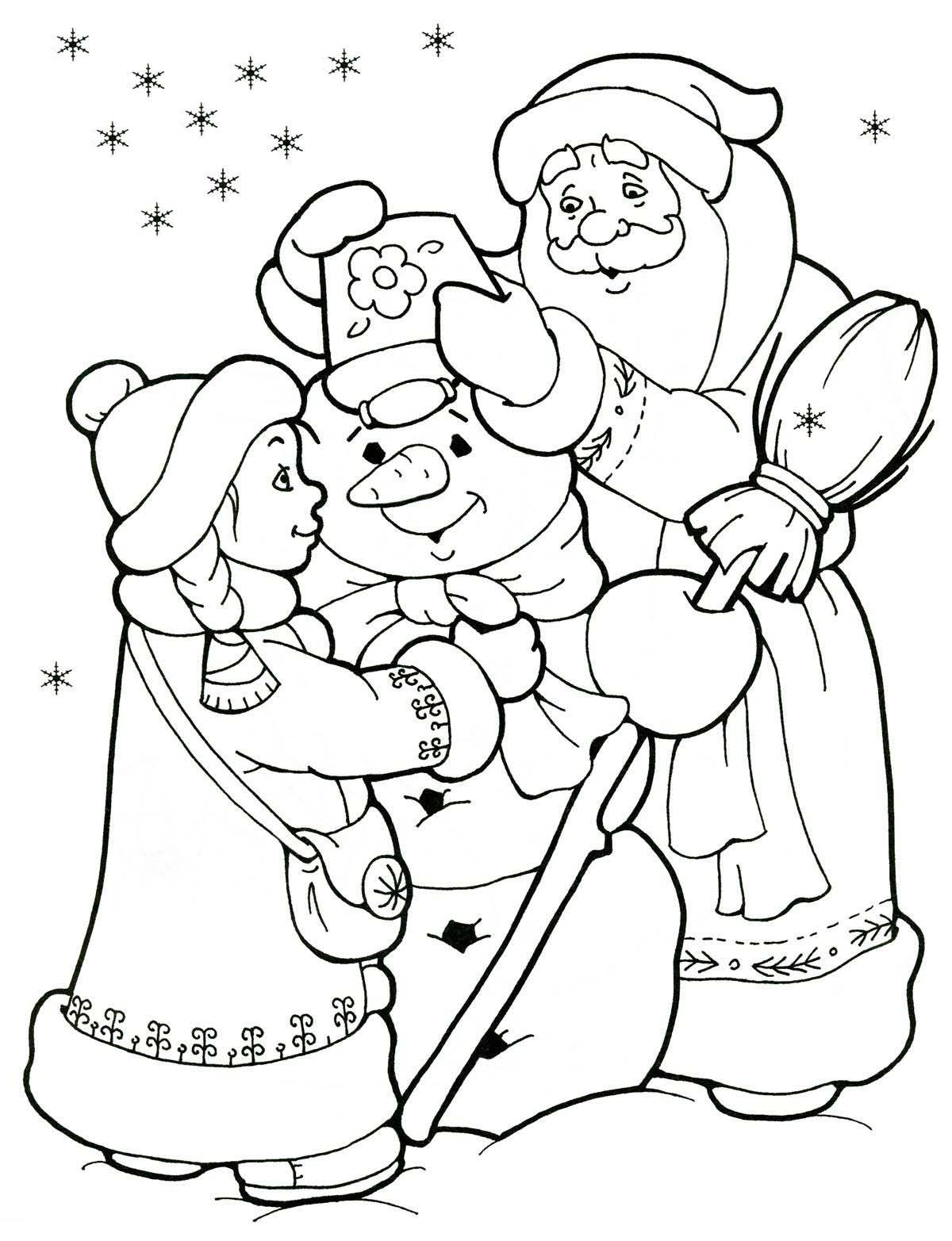 дед мороз и снегурочка и снеговик