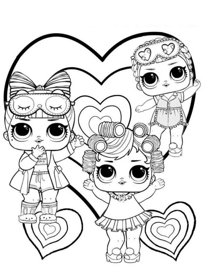 Раскраски лол 3 сестрички