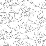 Раскраски сердечки и звёздочки