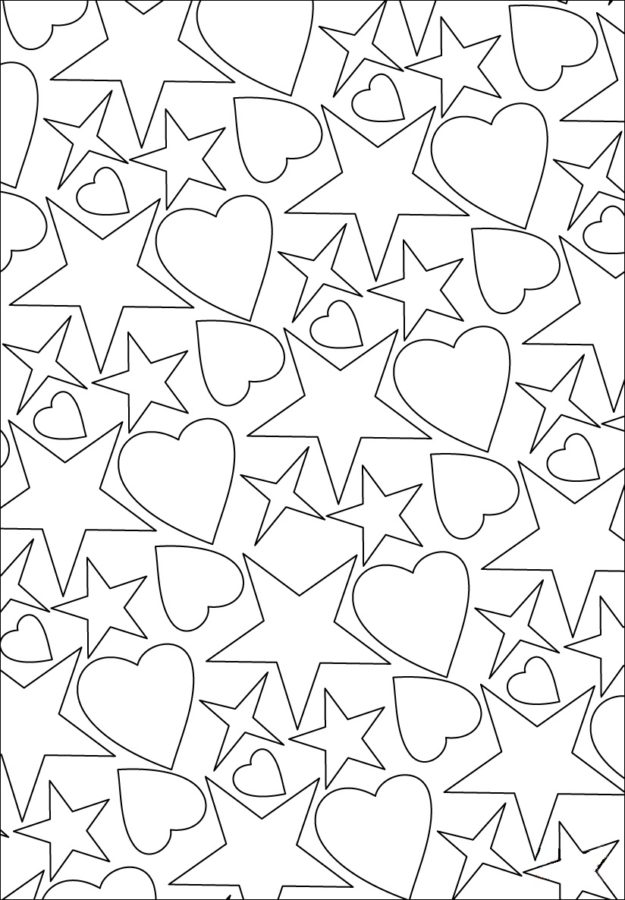 Сердечки и звёздочки