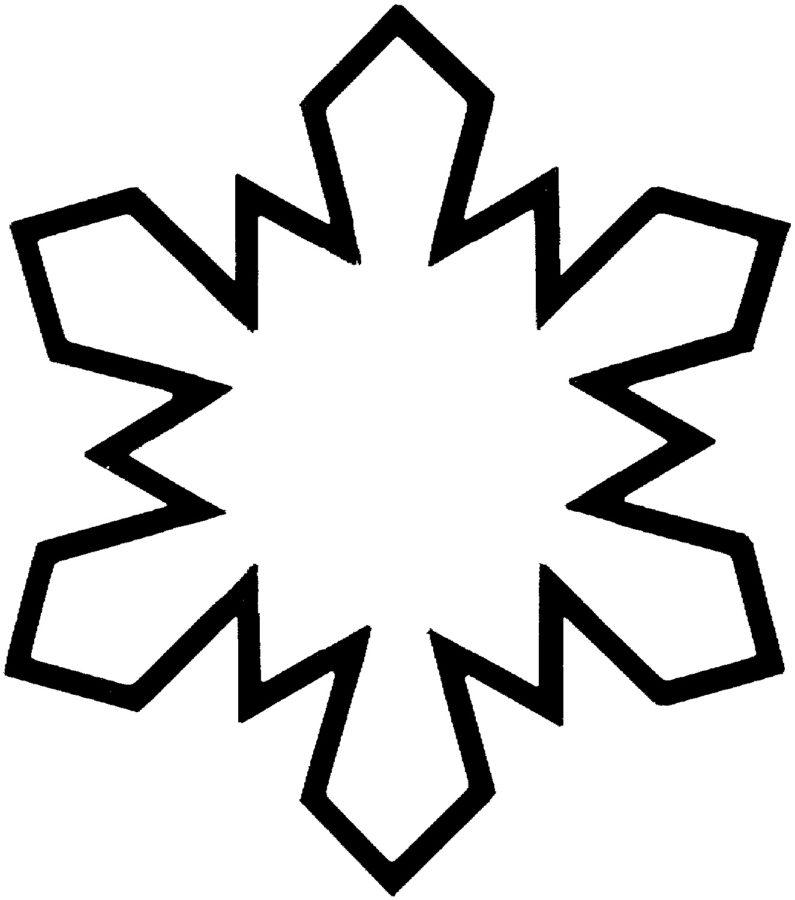 Раскраска снежинки 3 года