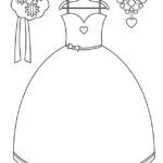 Раскраски свадебное платье