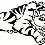 Саблезубый тигр раскраска