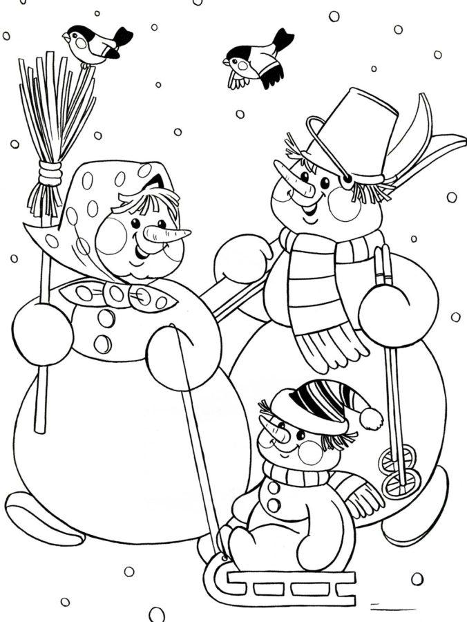 коллегии новогодние картинки снеговика раскраска выборе