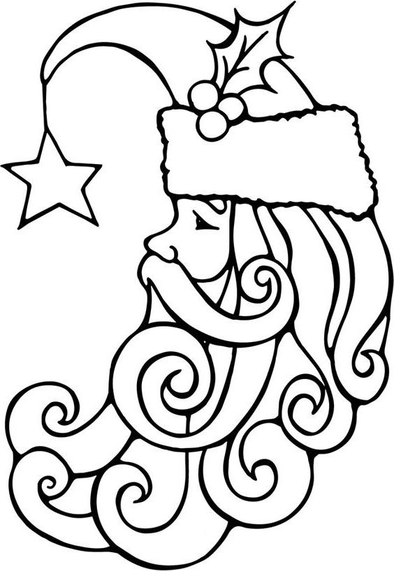 Раскраска шапка Деда Мороза