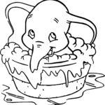 Слонёнок Дамбо раскраска