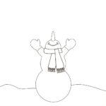Снеговик раскраска без ведра