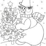 Снеговики раскраски на новый год