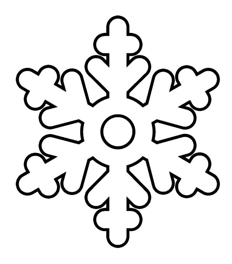 Снежинка раскраска простая