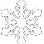 Снежинки раскраска вытынанка