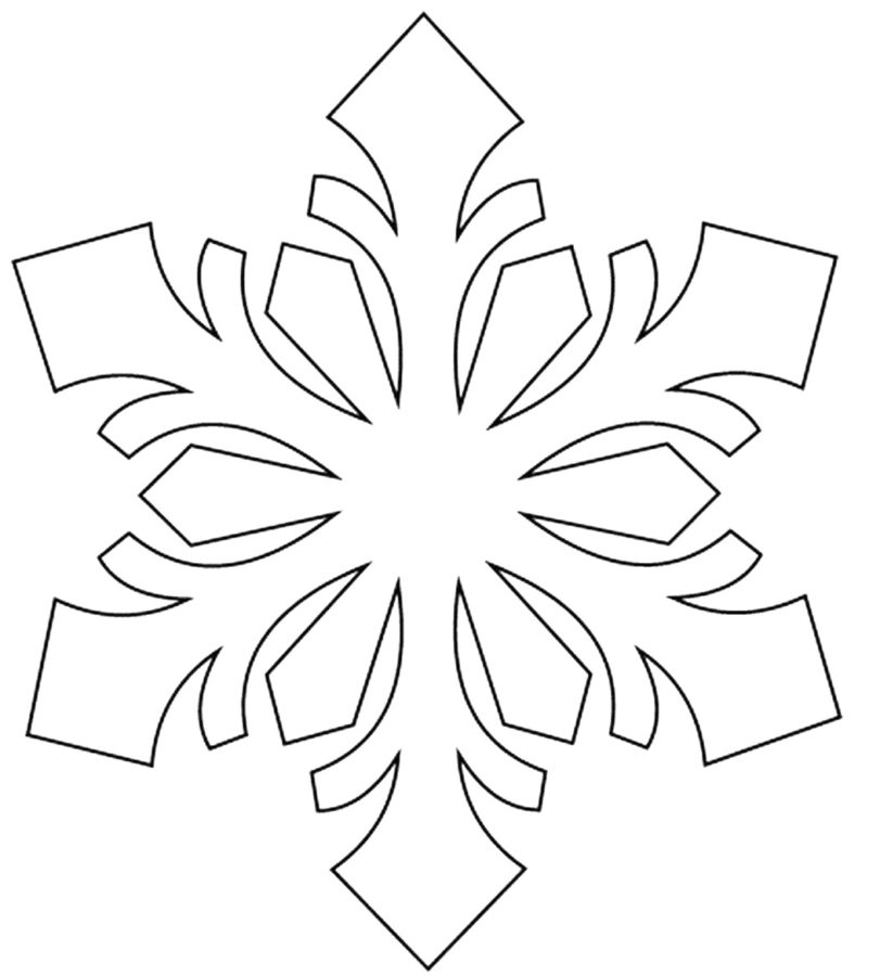 Раскраска снежинка вытынанка