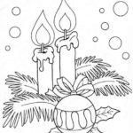Свечи на ёлку раскраска