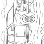 Тойота Ленд Крузер Прадо раскраска