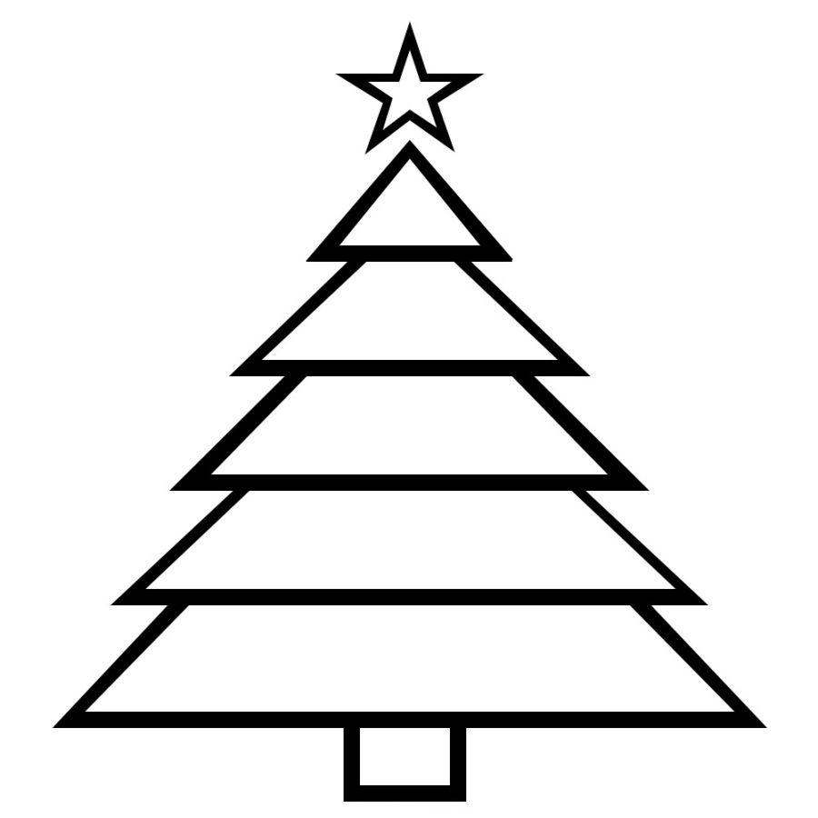 Раскраска ёлка из треугольников