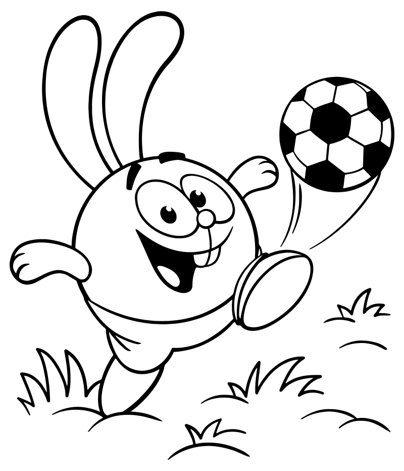 Крош - футболист
