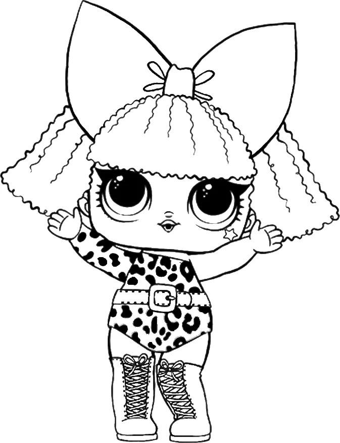 ЛОЛ с бантом в леопардовом костюме