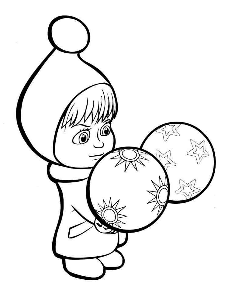 Маша и новогодние шары
