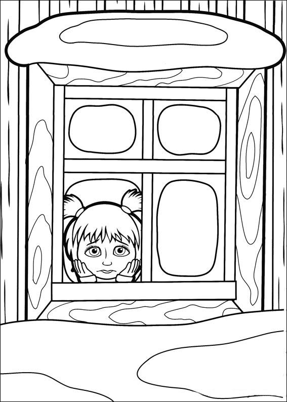 Маша смотрит в окно и грустит