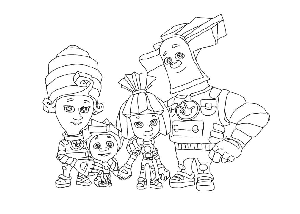Нолик,Симка, Папус и Мася