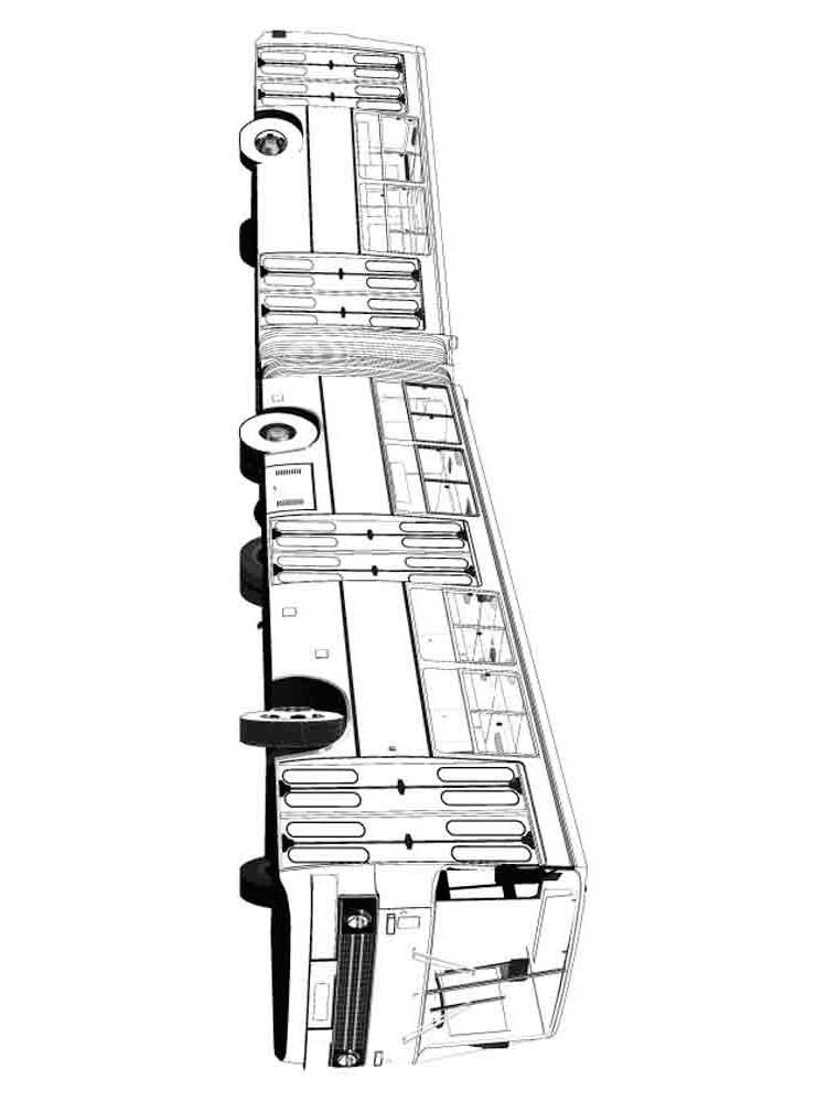 Раскраска автобус гармошка Экарус