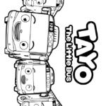 Раскраски Тайо маленький автобус