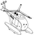 Раскраска вертолет для детей 3 4 лет