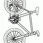 Велосипед рисунок раскраска