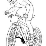 Велосипедист картинка раскраска