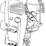 Веселый автобус раскраска
