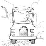 Раскраска водитель автобуса