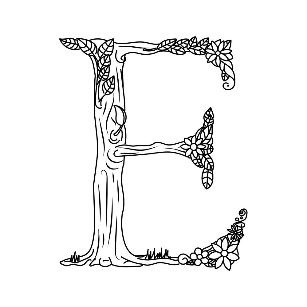 Буква Е дерево