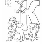 """Буква """"К"""" в короне с коровой"""