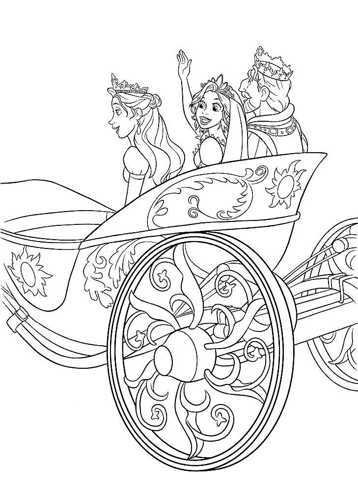 Королевская семья в карете