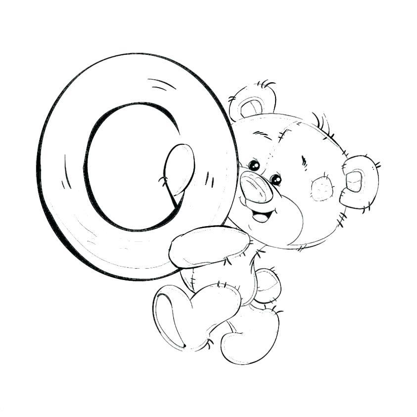 Буква О с мишкой