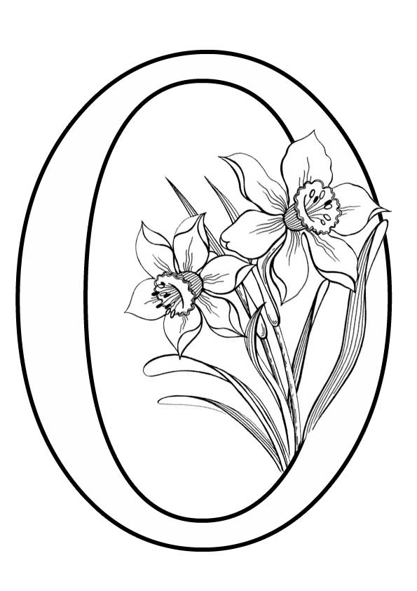 Буква О с цветами