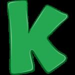 Раскраска картинка буква К