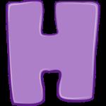 Раскраска буква Н