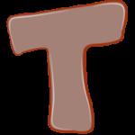 Раскраска буква Т