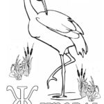 Азбука буква Ж с журавлём