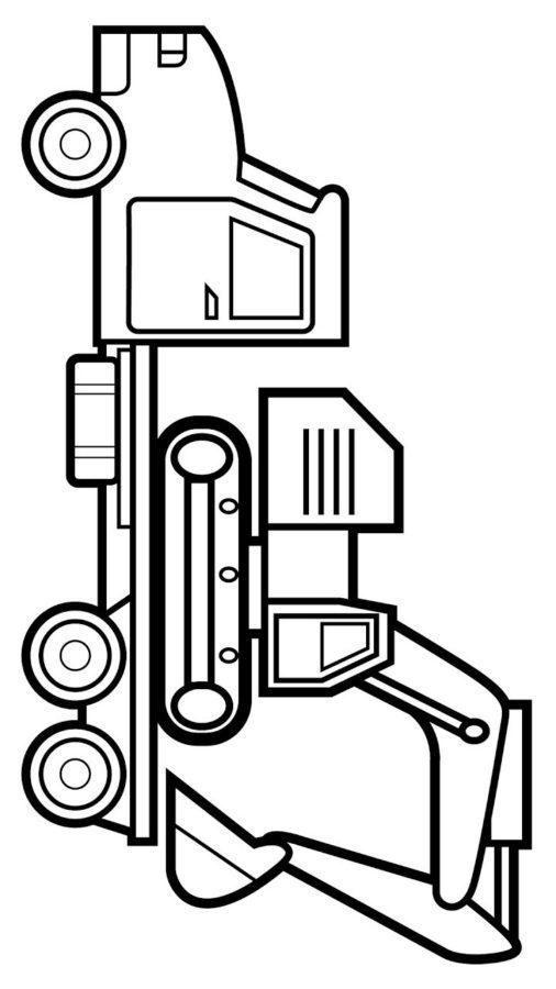 Раскраски Автовоз - распечатать в формате А4   900x506