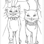 Раскраска две кошки