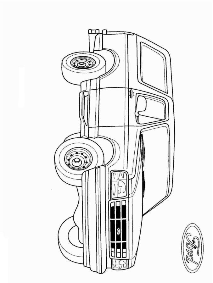 Форд эксплорер раскраска