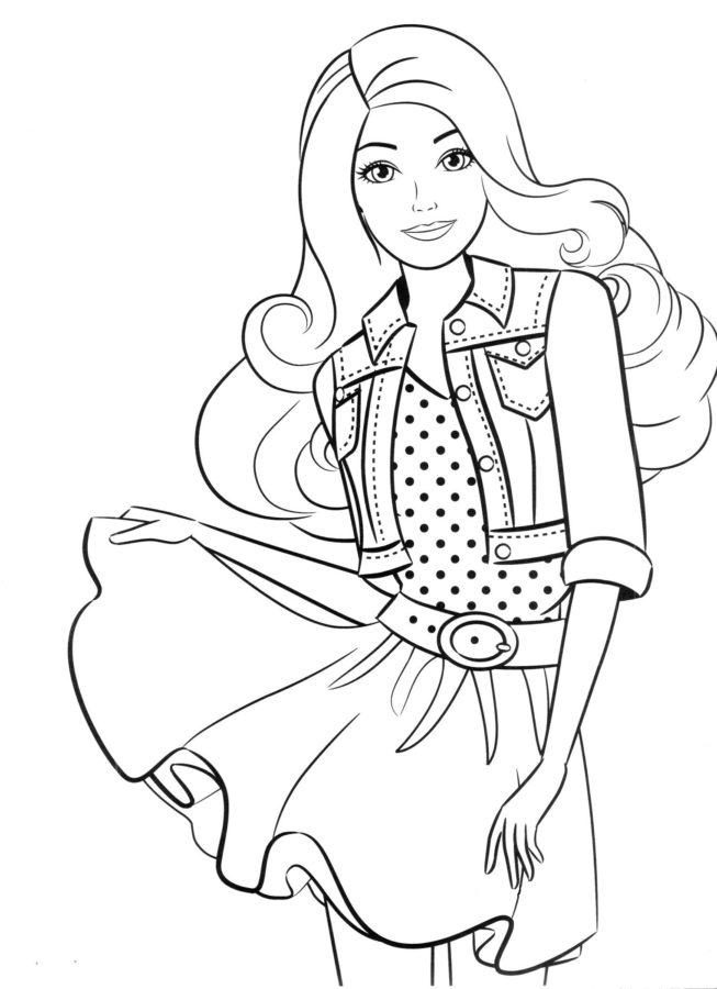 Картинки куклы Барби раскраски