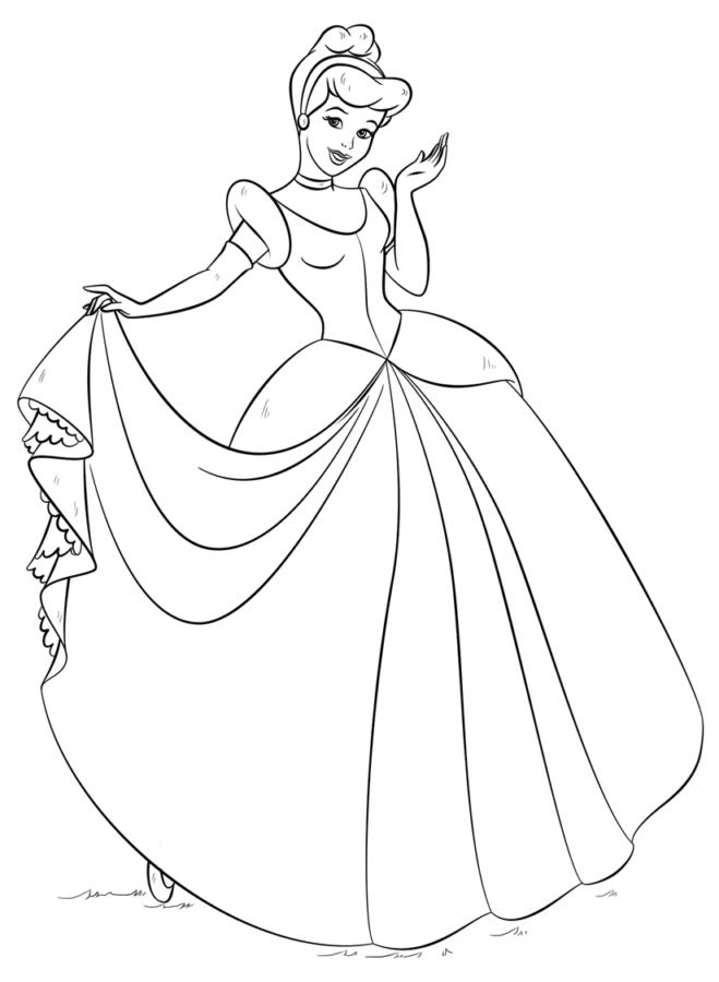 Платье золушки раскраска