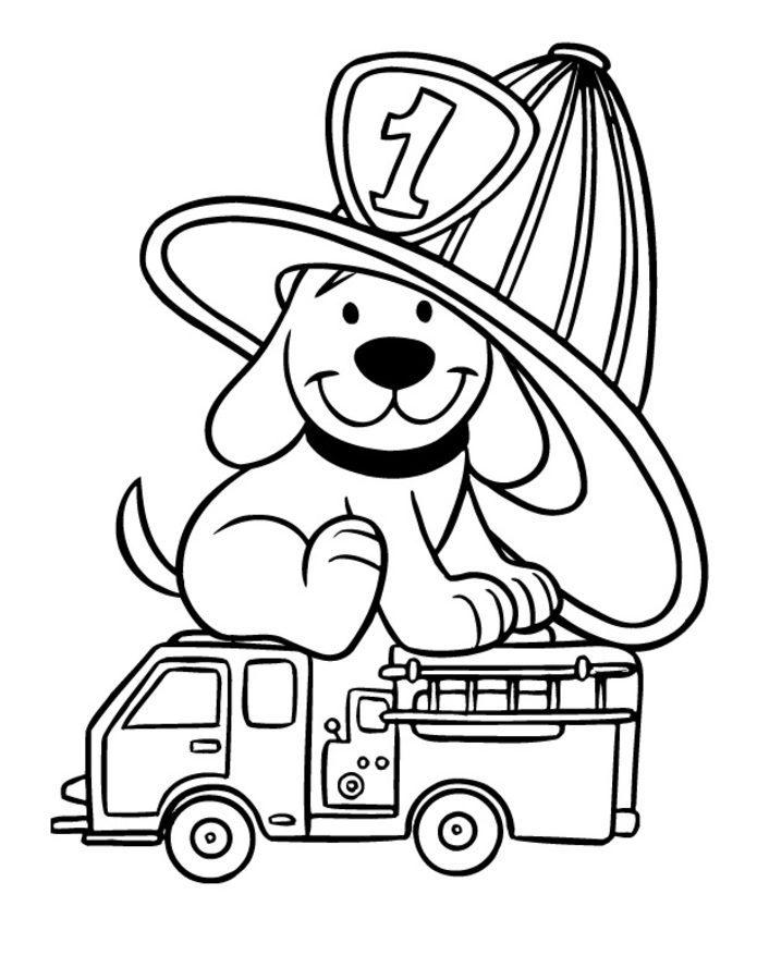 Пожарные собаки раскраска