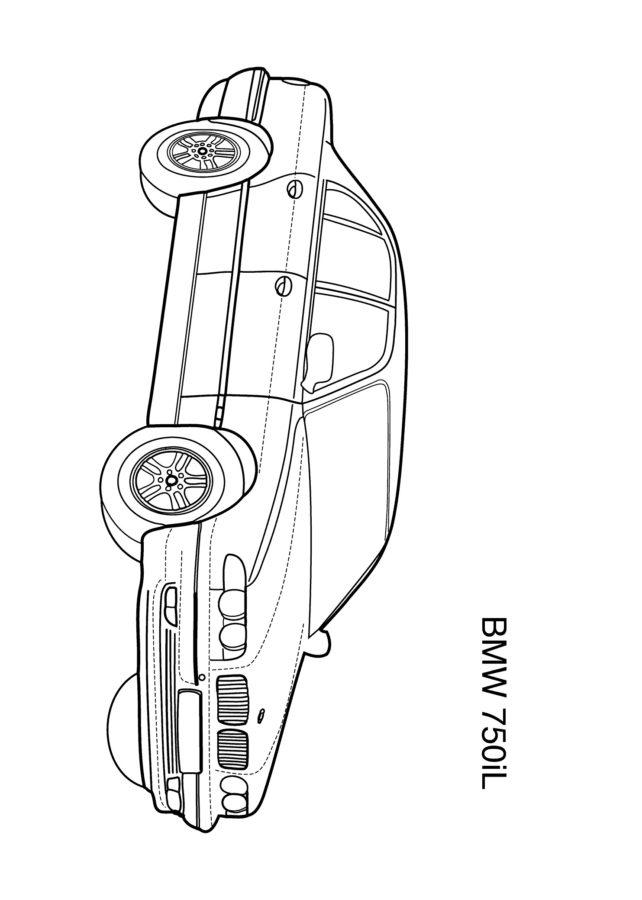Раскраска БМВ 750IL
