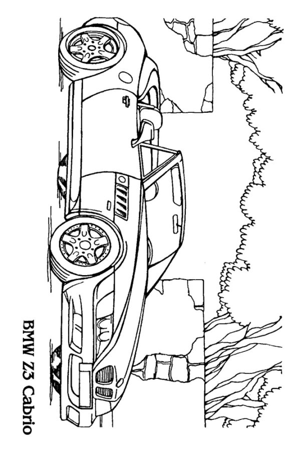 Раскраска БМВ Z3 Cabrio