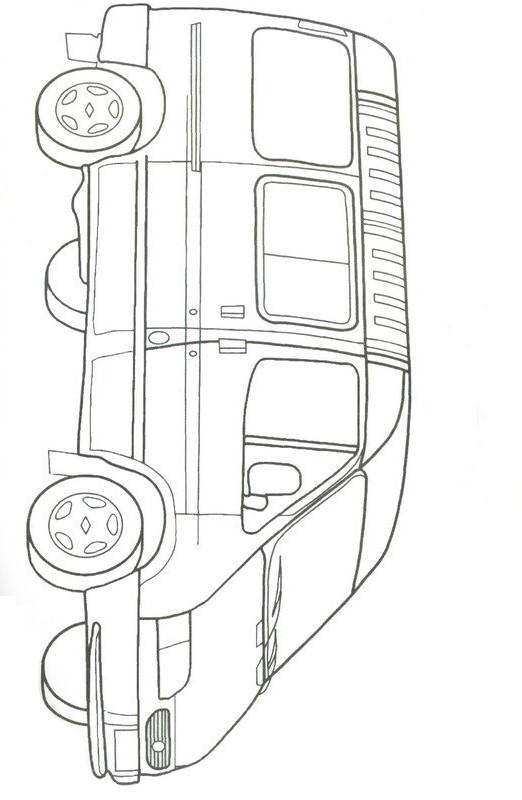 Раскраска Форд Транзит