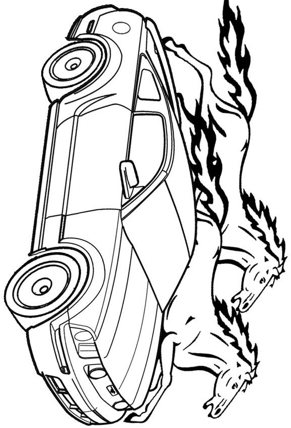 Раскраска ford mustang