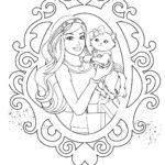 Раскраска кошка Барби
